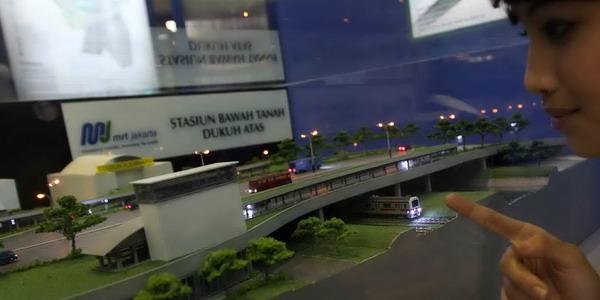 Maket MRT (Foto: Dok Okezone)
