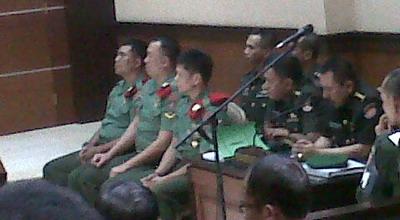 Sidang tiga terdakwa 'Cebongan' berkas pertama (foto: Prabowo/Okezone)