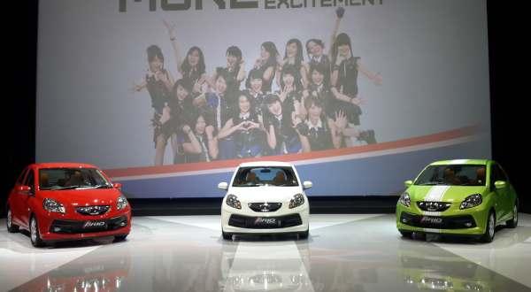 F: tiga varian Honda New Brio (Febri A/Okezone)