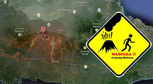 Ilustrasi letusan Gunung Kelud (Foto: Feri u/okezone)