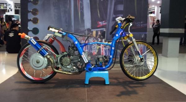Tampilan Gahar Suzuki Nex Dalam Balutan Drag Bike Okezone Otomotif