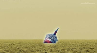 Dua ABK Terjebak di Kapal Tenggelam