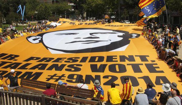 Referendum Ditolak, Catalonia Dilanda Protes Besar (Foto:Reuters)