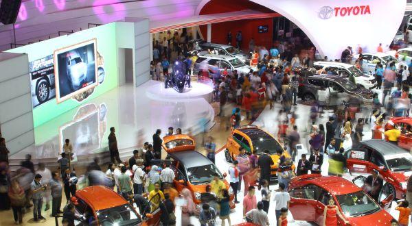 F: Toyota Lepas 10.344 Mobil Selama IIMS 2014 (Dok TAM)