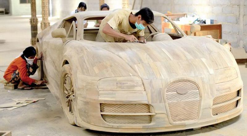 bugatti veyron ini buatan seniman boyolali okezone news. Black Bedroom Furniture Sets. Home Design Ideas