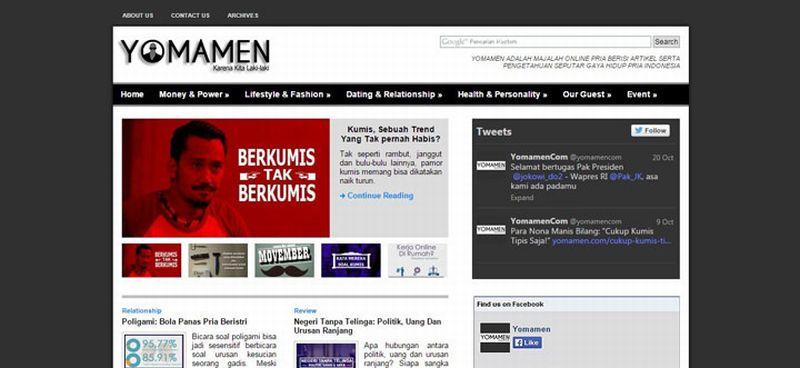 Yomamen, Startup Media Khusus Pria