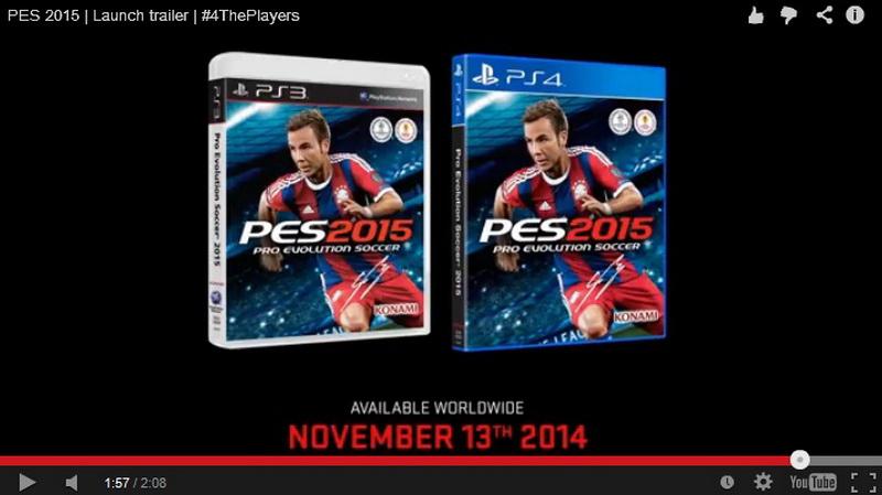 Game PES 2015 Pasang Cover Mario Gotze (Foto: Screenshot)