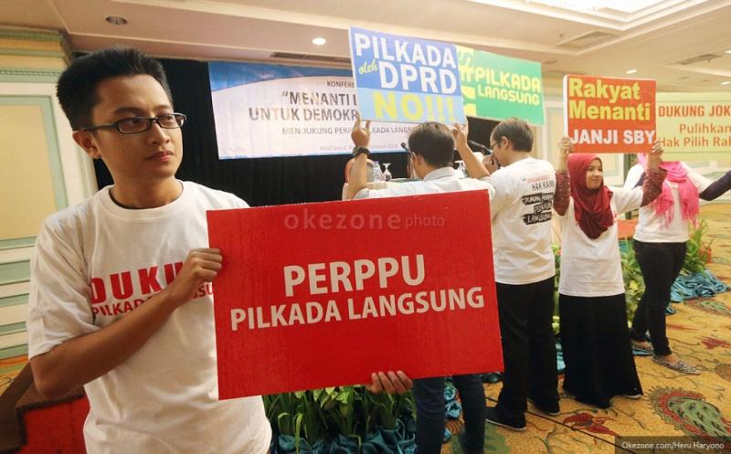 Pengaturan dinasti politik di Perppu Pilkada melanggar konstitusi (Foto: Okezone)
