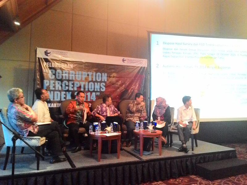 Peringkat Index Persepsi Korupsi Indonesia di Bawah Malaysia