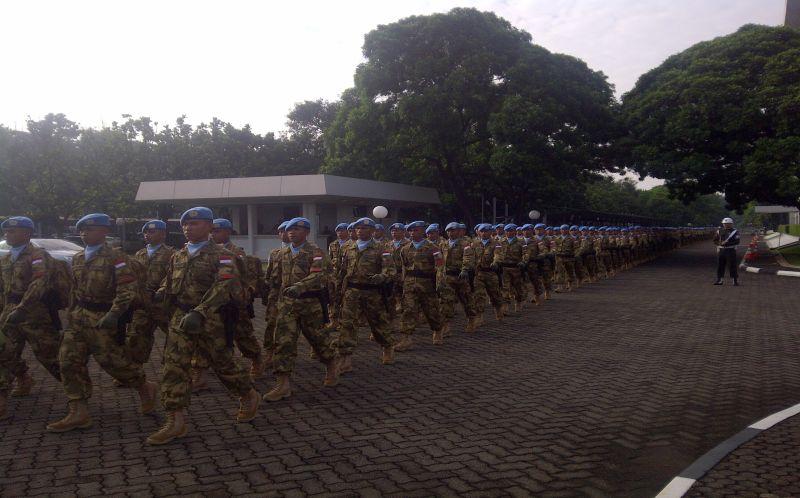 Panglima TNI Lepas 800 Prajurit ke Sudan