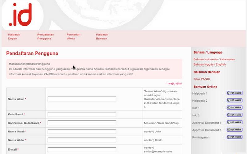 Biaya untuk Membuat Domain Indonesia