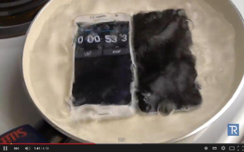 Direbus, Galaxy S6 Lebih Tahan Ketimbang iPhone 6
