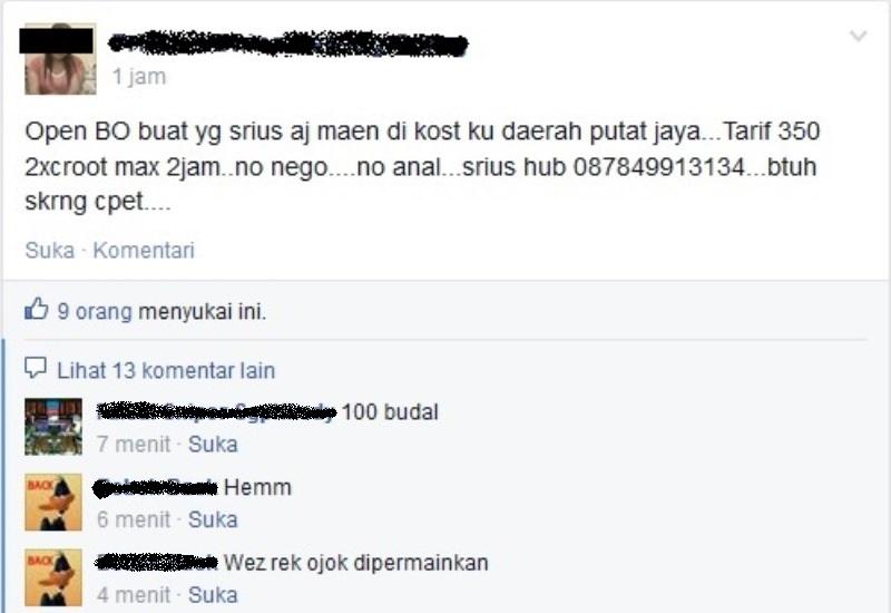 Maraknya Prostitusi Online via Facebook di Surabaya