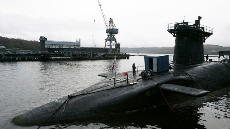 HMS Vanguard kapal selam nuklir ber rudal balistik kelas Trident. (Foto : Reuters)