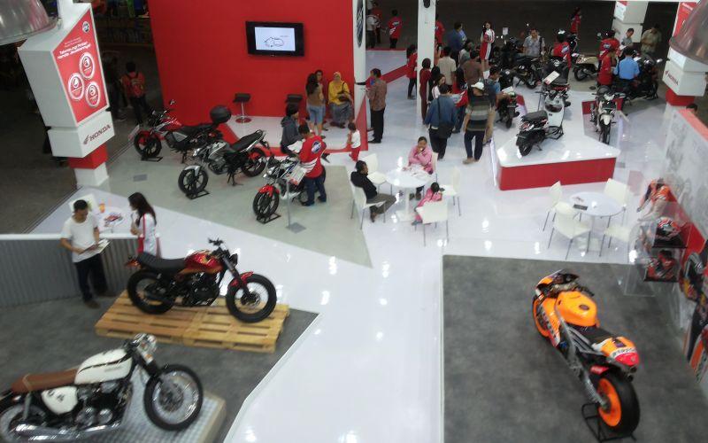 10 ribu unit motor Honda ditargetkan laris di event tahunan, Jakarta Fair Kemayoran 2015 (Anton/Okezone)