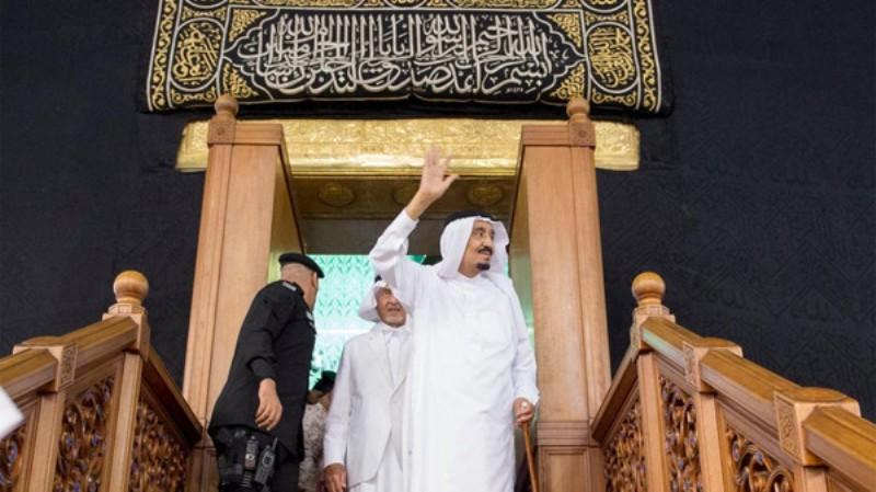 Raja Salman di Kompleks Masjidil Haram (Foto:Al Arabiya)