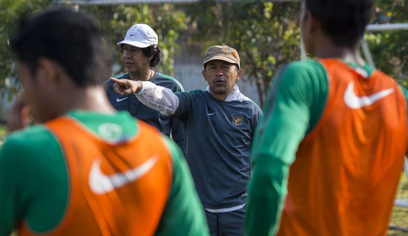 Pelatih Timnas Indonesia U-23 SEA Games Aji Santoso/Foto: Antara