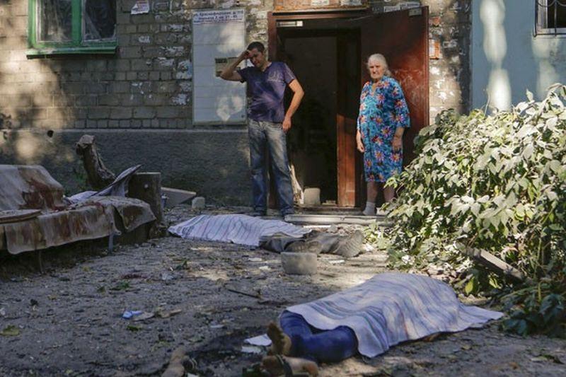 Warga Ukraina korban konflik (Foto: Reuters)
