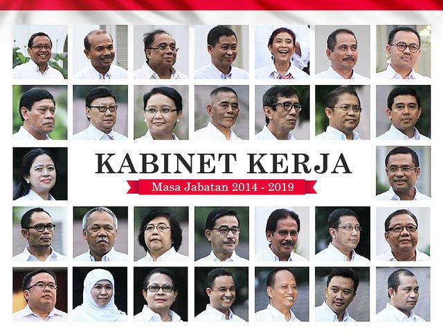 Image result for nama menteri kabinet kerja terbaru