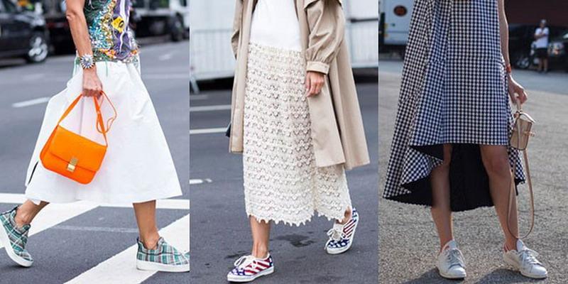 Padu Padan Dress Dengan Sneaker Okezone Lifestyle