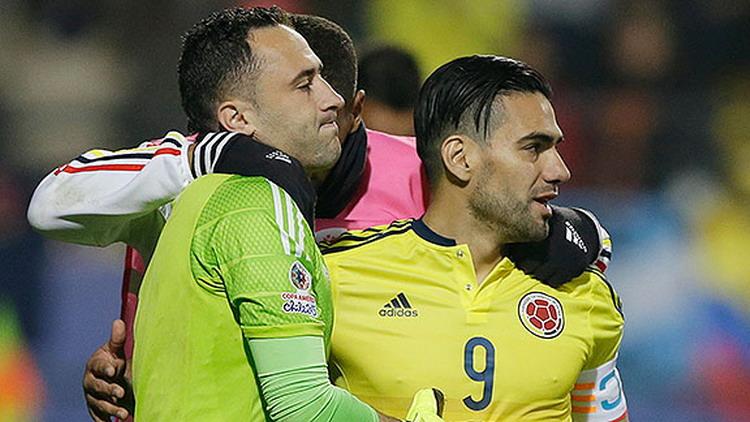David Ospina (kiri) dan Radamel Falcao (foto: ESPN)