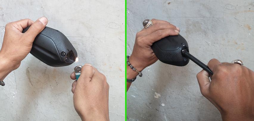Cara membetulkan spion motor yang lepas (Foto: Gila Motor)