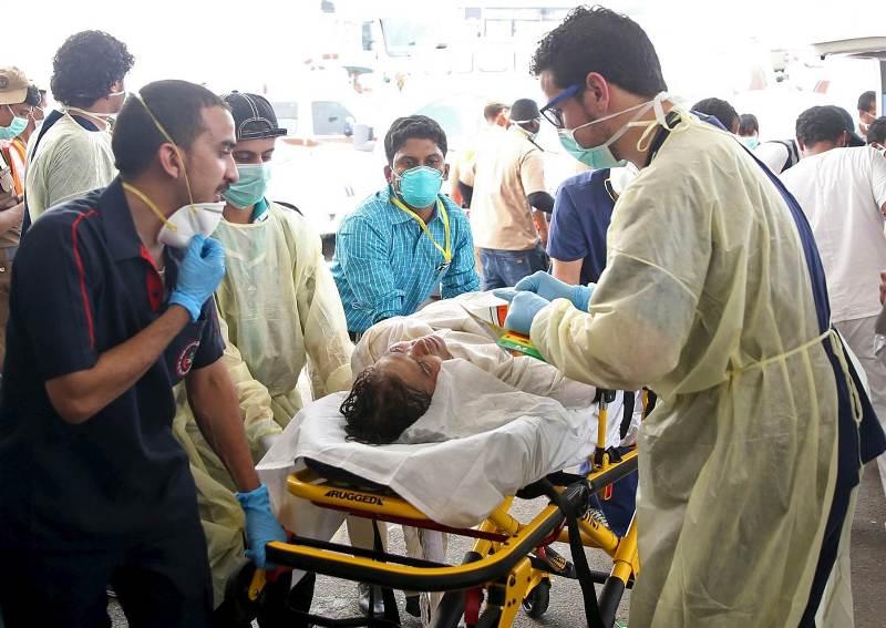 Korban luka tragedi Mina ditangani petugas. (Foto: NBC)
