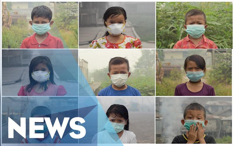 Tangis Ibu saat Anaknya Terkapar Diserang Kabut Asap