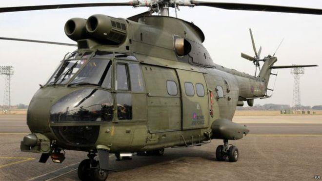 Helikopter Puma milik Inggris. (Foto: AFP)
