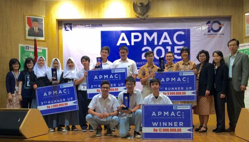 Pemenang APMAC 2015. (Foto: dok. Prasetiya Mulya)