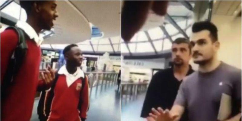 Seorang staf Apple Store terlihat mengusir sekelompok remaja dalam rekaman video (Foto: Metro)