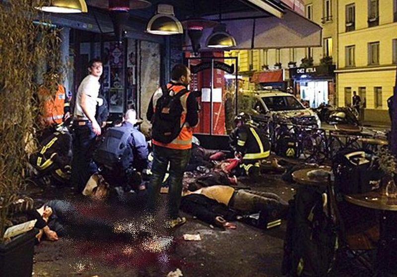 Lokasi serangan teror di Gedung Konser Bataclan (Foto: AP)