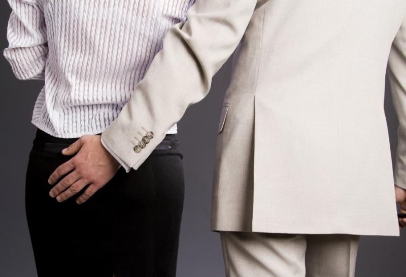 Bagian yang paling rentan menjadi sasaran pelecehan seksual adalah punggung atau bokong.