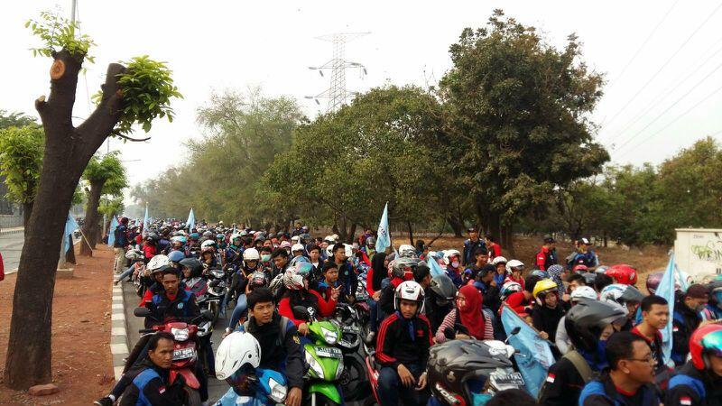 Lima Juta Buruh di Indonesia Mogok Nasional