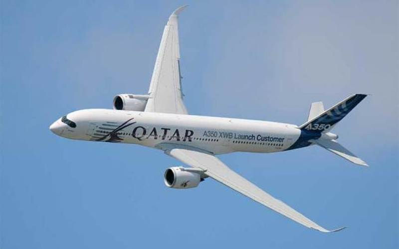 Airbus A350 milik Qatar Airways (Foto: Telegraph)