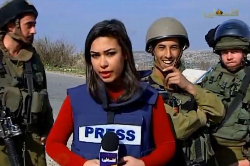 Reporter Palestina Diganggu Tentara Israel saat Siaran Langsung