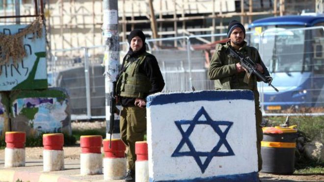 Persimpangan Gush Etzion jadi lokasi penyerangan sebelumnya (Foto: BBC)