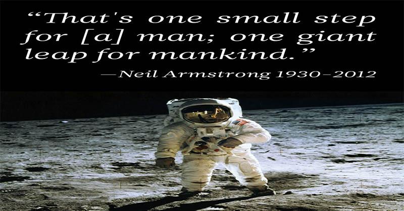 Ini Yang Diucapkan Neil Armstrong Saat Menginjak Bulan