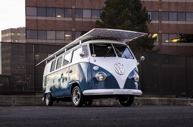 VW Kombi 1966 gunakan tenaga surya (foto: Gas2)