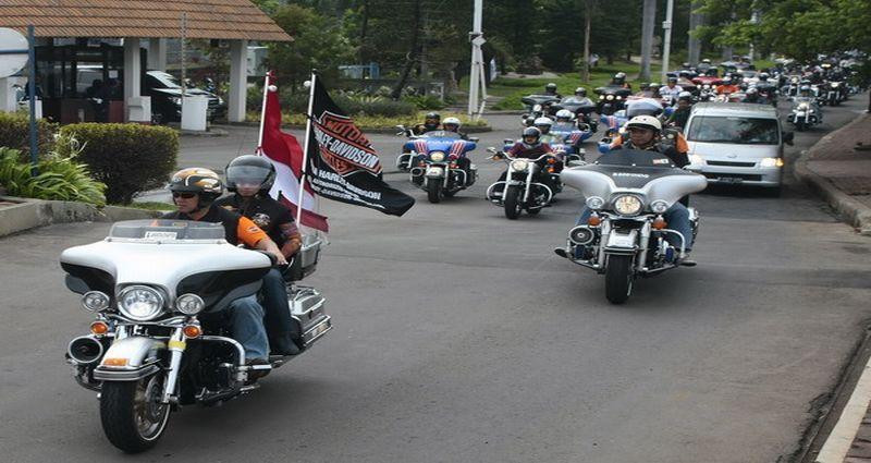 Ilustrasi konvoi Harley Davidson (foto: Okezone)