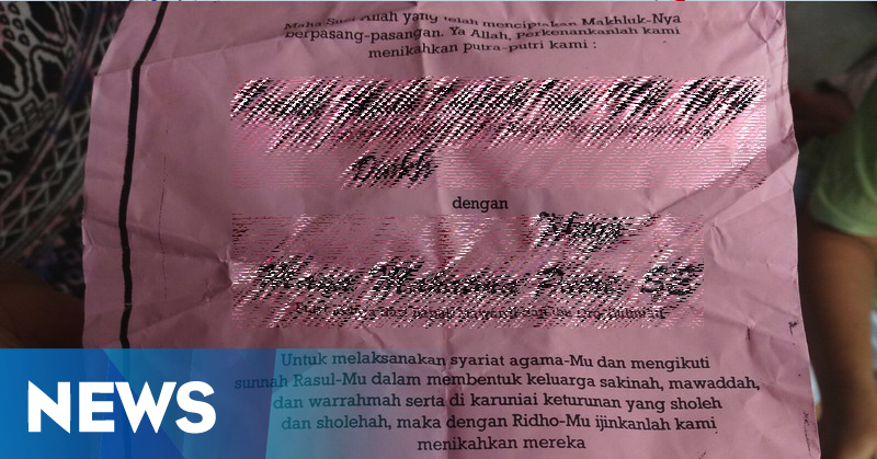 Beredar Undangan Pernikahan Pasangan Sejenis di Hari Valentine