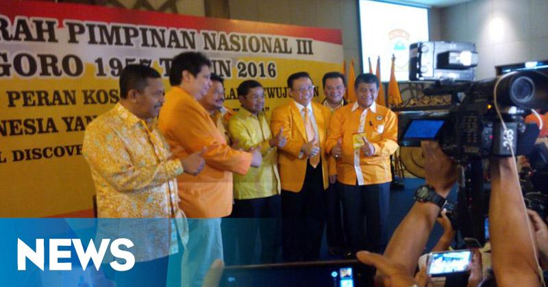 Jelang Munaslub Golkar, Kosgoro Usung Empat Caketum