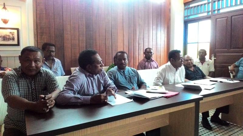 Konferensi Pers Kepala SKPD versi Bupati Samri (Foto: Edy/Okezone)