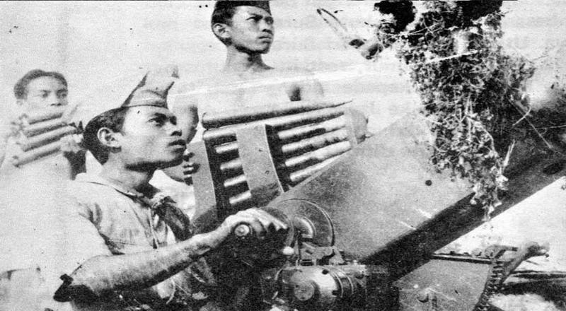 para pejuang Indonesia berperang melawan Belanda
