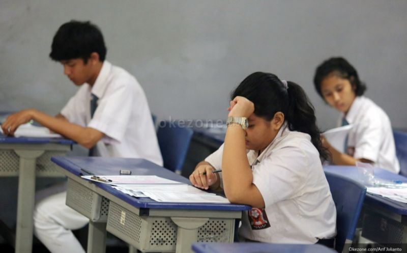 Ilustrasi: suasana ujian nasional. (Foto: dok. Okezone)