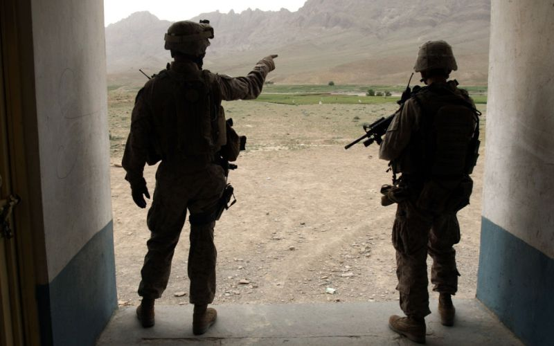 Ilustrasi USMC (Marinir Amerika Serikat) di Irak (Foto: Goran Tomasevic/REUTERS)