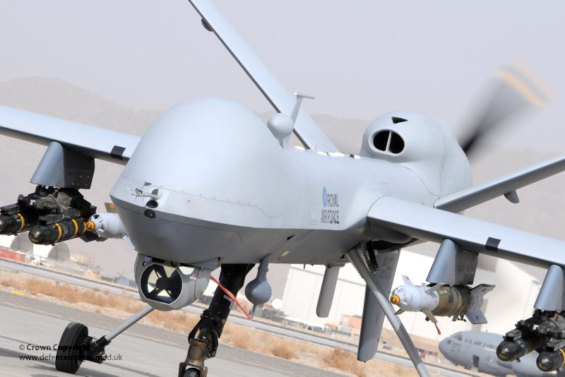Penampakan Drone Predator dari depan (Foto: The Aviationist)