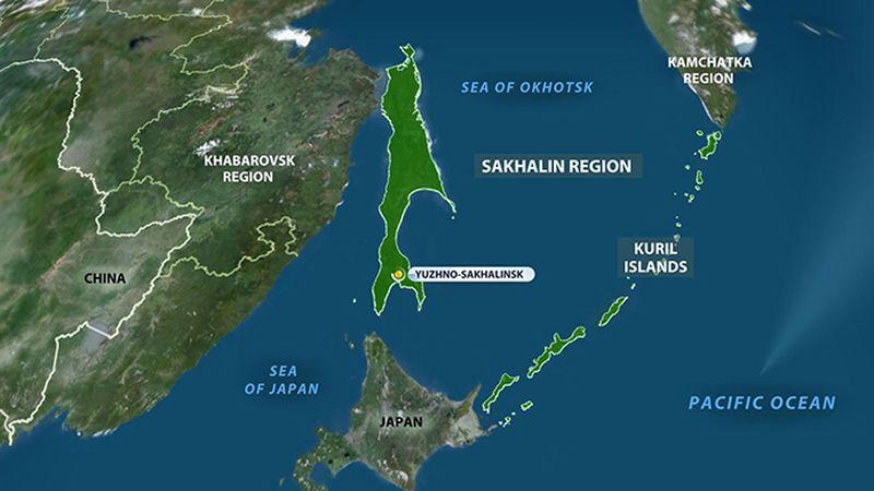 Lokasi gugusan Pulau Kuril (Foto: Russian Today)