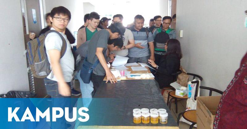 Tangkal Peredaran Narkoba, 200 Mahasiswa Binus Jalani Tes Urine
