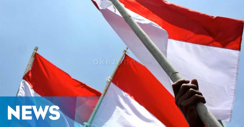Bendera Merah Putih Raksasa Terbentang di Perbatasan Indonesia-Papua Nugini
